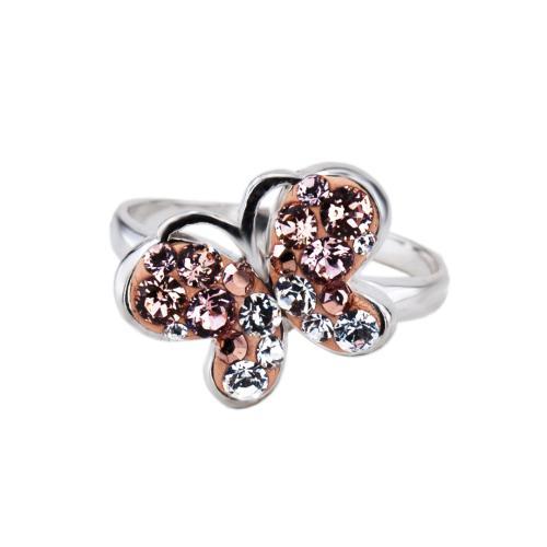 Сребърен Пръстен С Кристали От Swarovski® SP727 Peach Gold