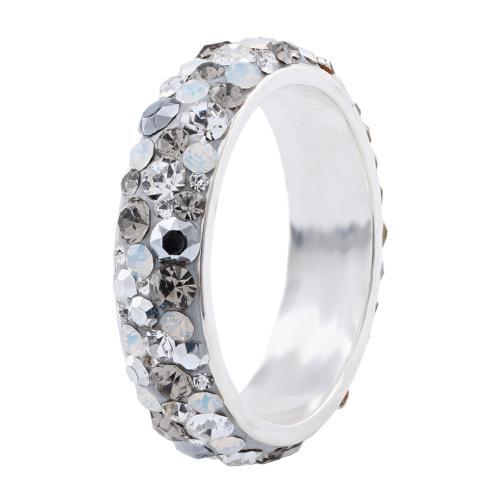 Сребърен пръстен с кристали от Swarovski® SP613 Silver SHade