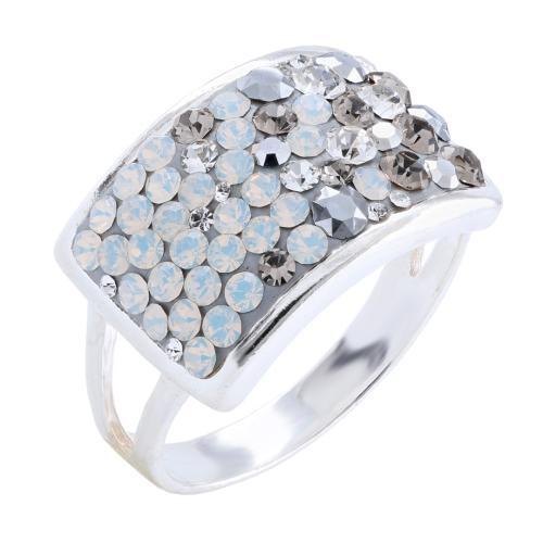 Сребърен пръстен с кристали от Swarovski®  SP650 Silver Shade