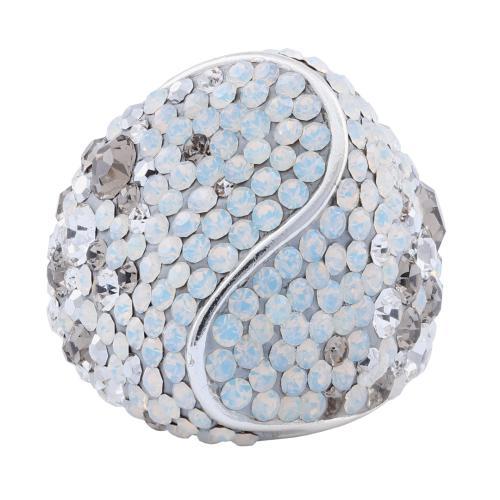 Сребърен пръстен с кристали от Swarovski® SP662 Silver Shade
