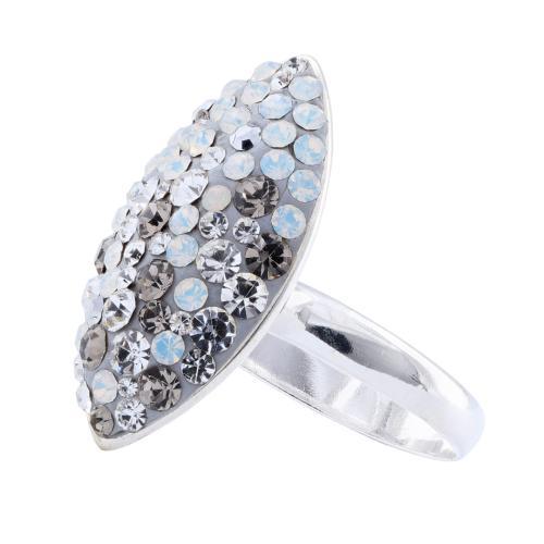Сребърен пръстен с кристали от Swarovski® SP679 Silver Shade