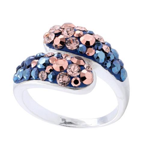 Сребърен пръстен с кристали от Swarovski®  SP633 Metallic Rose Gold