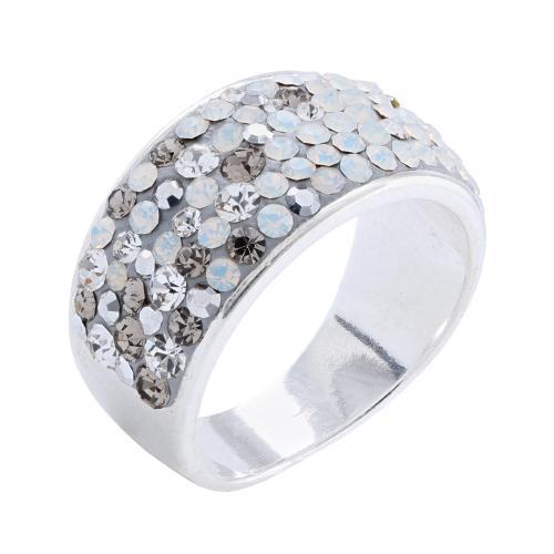 Сребърен пръстен с кристали от Swarovski®  SP648 Silver Shade