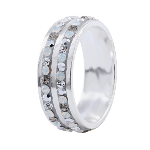 Silver ring with Crystals From Swarovski® SP707 Silver Shade