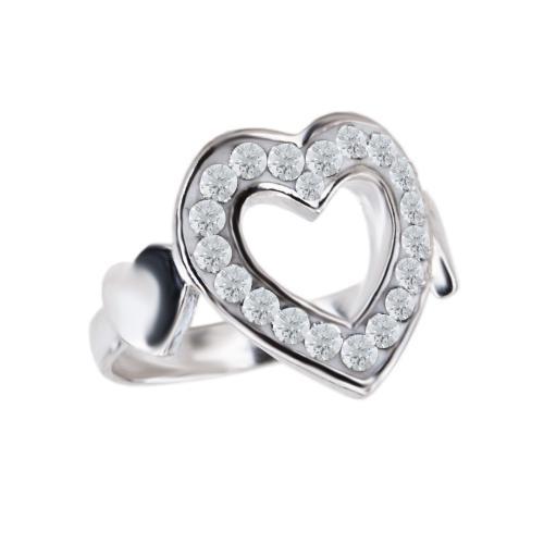 Сребърен пръстен с кристали от Swarovski® SP730 Crystal