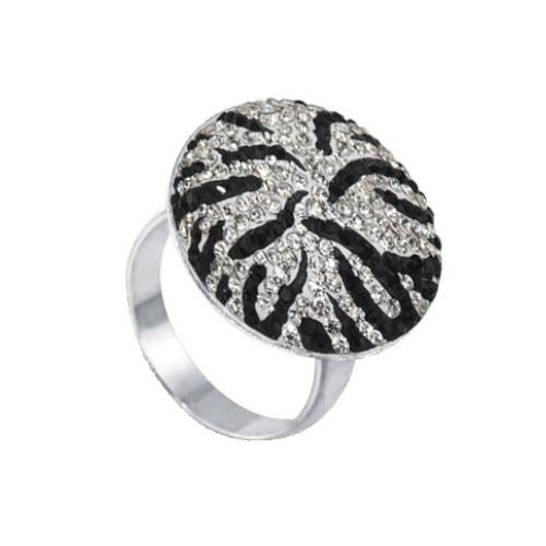 Сребърен пръстен с кристали от Swarovski® SP601 Zebra
