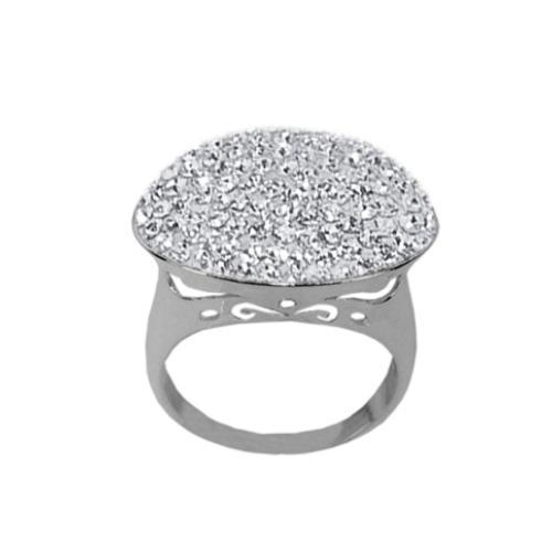 Сребърен пръстен с кристали от Swarovski®  SP684