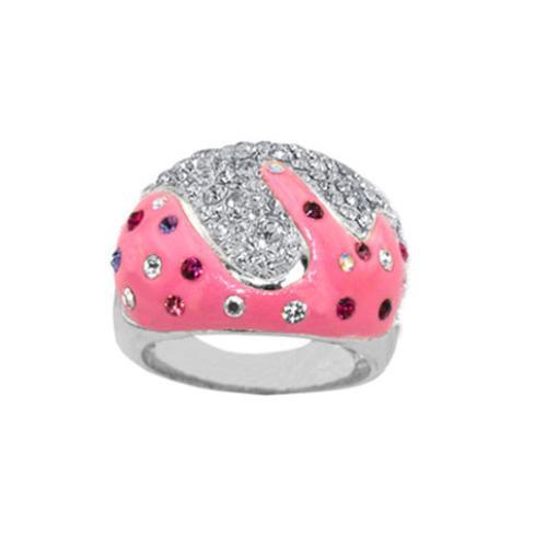 Сребърен пръстен с кристали от Swarovski®  SP685