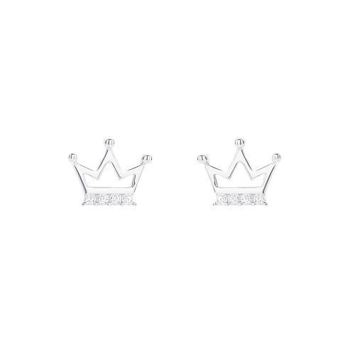 Сребърни обеци Коронка